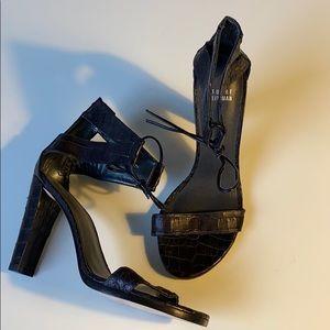 Stuart Weitzman snakeskin-like heels